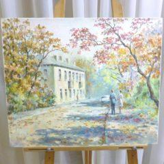 Кайдалов А.Г. «Осенняя прогулка», х/м, 50х60