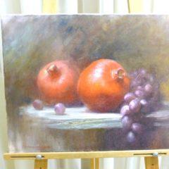 А. Панфилов «Гранаты с виноградом», х/м, 40х50