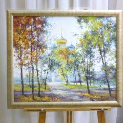 Косенко В.В. «Покровский храм», х/м,  50х60