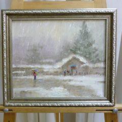 Убираев В.Г. «Мокрый снег», х/м, 25х30