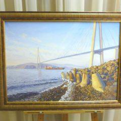 А. Городилов «Мост на остров Русский», х/м, 50х70