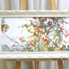 Косенко В.В. «Калина в снегу», х/м, 28х55