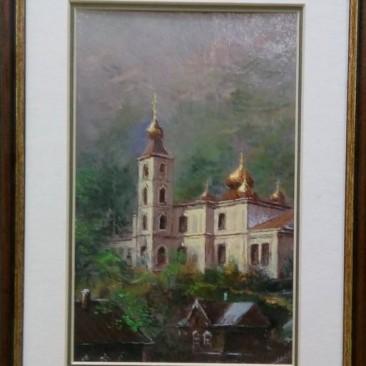Анискин Ю.А. Старая церковь карт.м. 30х22см