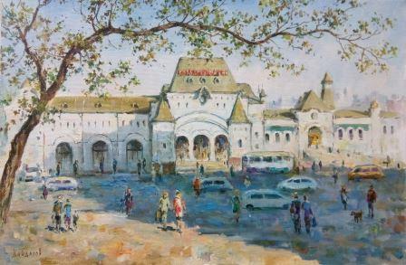 Кайдалов А. Вокзал 40х60 см х.м.