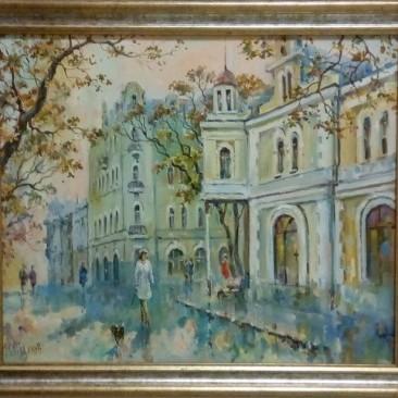 Кайдалов А.Г. Прогулка по Светланской х.м. 52х62см