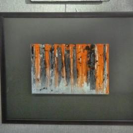Мельник Е. А. В тайге. керамика, глазури, стекло. 40х50 см.