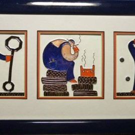 Мельник Е.А. Триптих. Шедевр в механике. размер каждой части 10 х 10 см. медь, горячие перегородчатые эмали