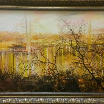 Редозубов Ю.Ю. Тайна Золотлго моста х.м. 50х76см