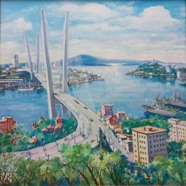 Волобуева О.Б. Золотой мост х.м. 55х55см
