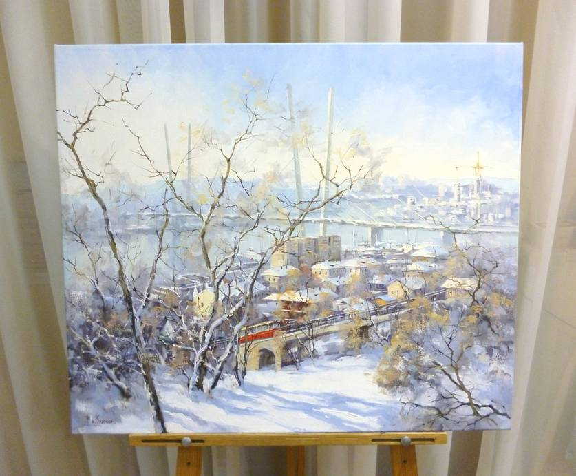 Косенко В.В. «Зимний город», х/м, 60х70