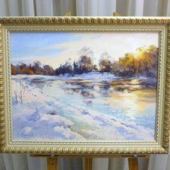 Косенко В.В. «Зимой на речке», х/м, 45х60