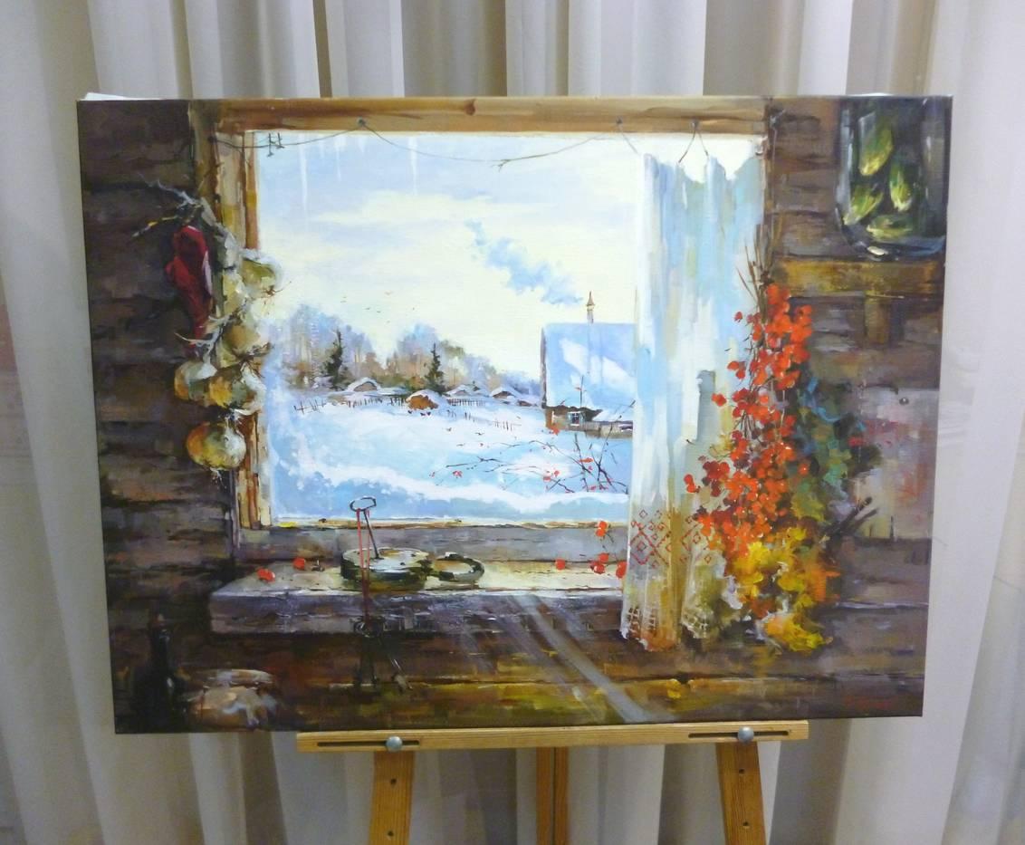 Косенко В.В. «Запасы на зиму», х/м, 60х80