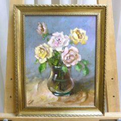 Помазенко А.Н. «Розы», орг/м, 28х22