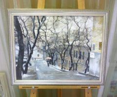 Редозубов Ю.Ю. «На Уборевича», х/м, 38х51