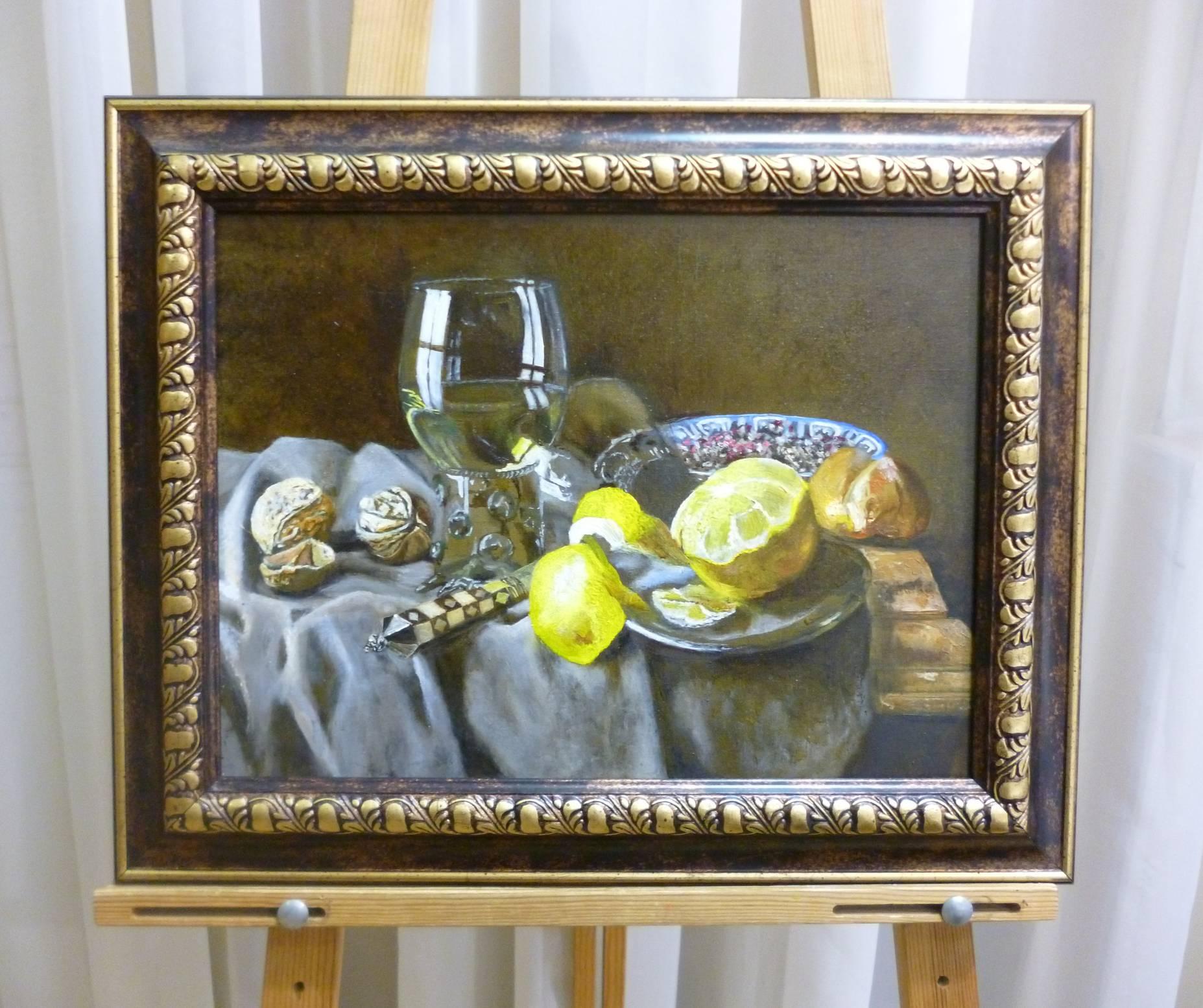 А.Берекет «Натюрморт с лимоном», х/м, 30х40