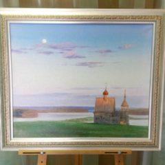 А.Панфилов «Старая церквушка», х/м, 50х60