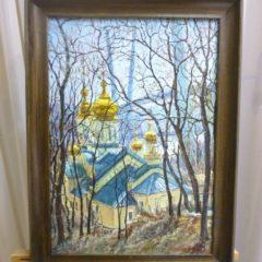 Чугунов А.И. «Золотые купола», х/м, 50х35