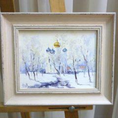 Косенко В.В. «Покровский храм», карт/м, 16х21