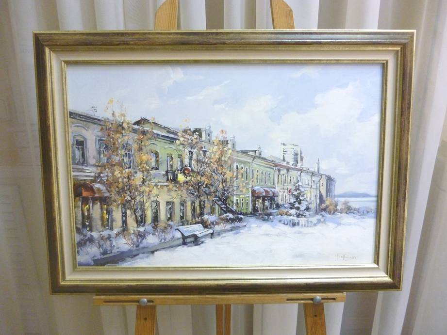 Косенко В.В. «Фонтанка зимой», х/м, 40х60