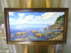 Чугунов А.И. «Облака над заливом», х/м, 38х70