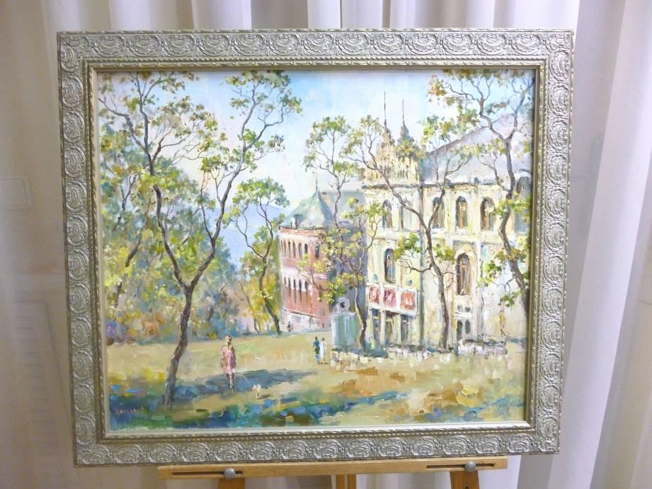 Кайдалов А.Г. «Весенний город», х/м, 60х50
