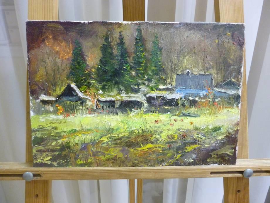 Кишнарёв А.Д. «Осень», х/м, 22х32