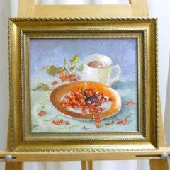 Помазенко А.Н.  «Чай со смородиной», карт/м, 22х25