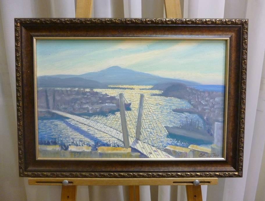 Е.Корж «Золотой рог. Владивосток», х/м, 32х50