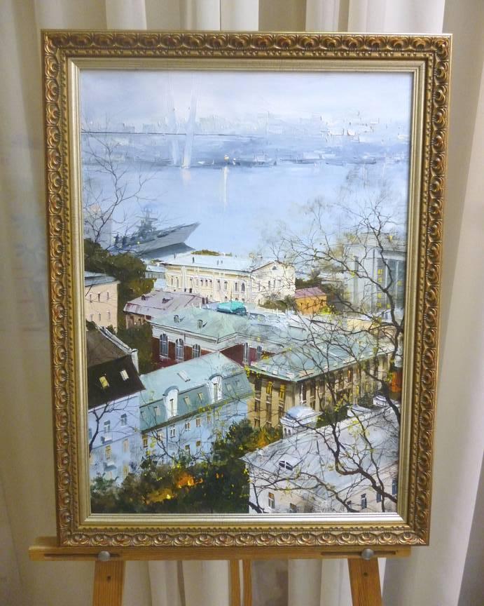 Редозубов Ю.Ю. «Над городом», х/м, 56х40