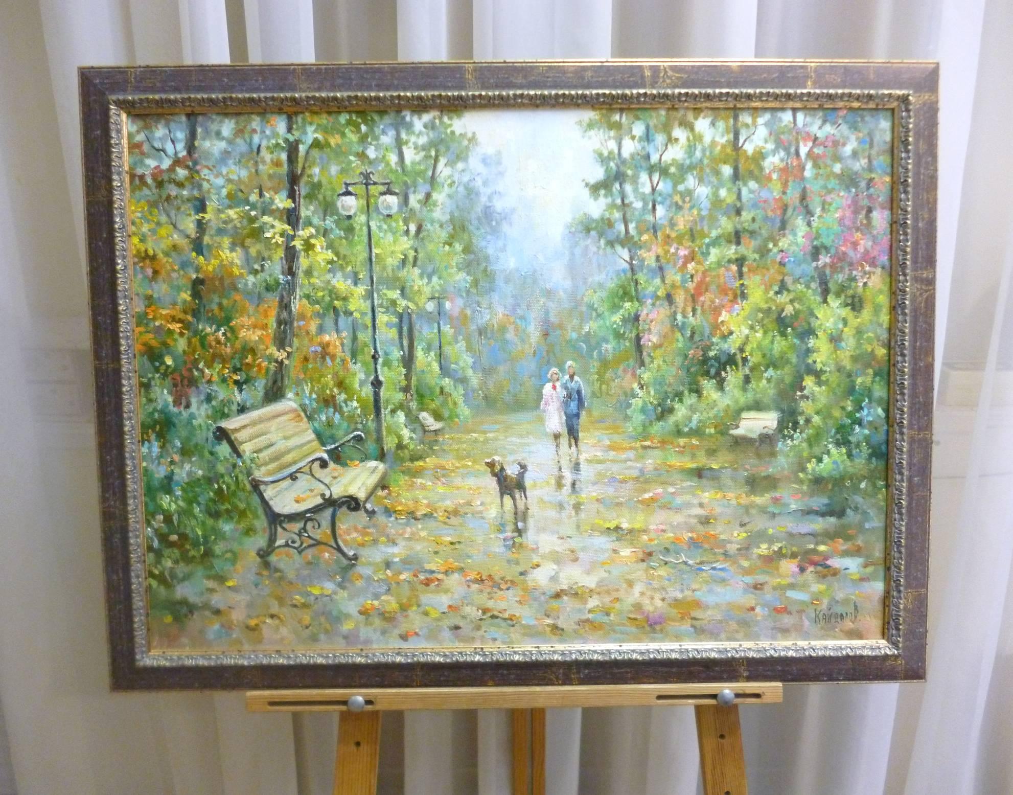 Кайдалов А.Г. «В парке», х/м, 50х70
