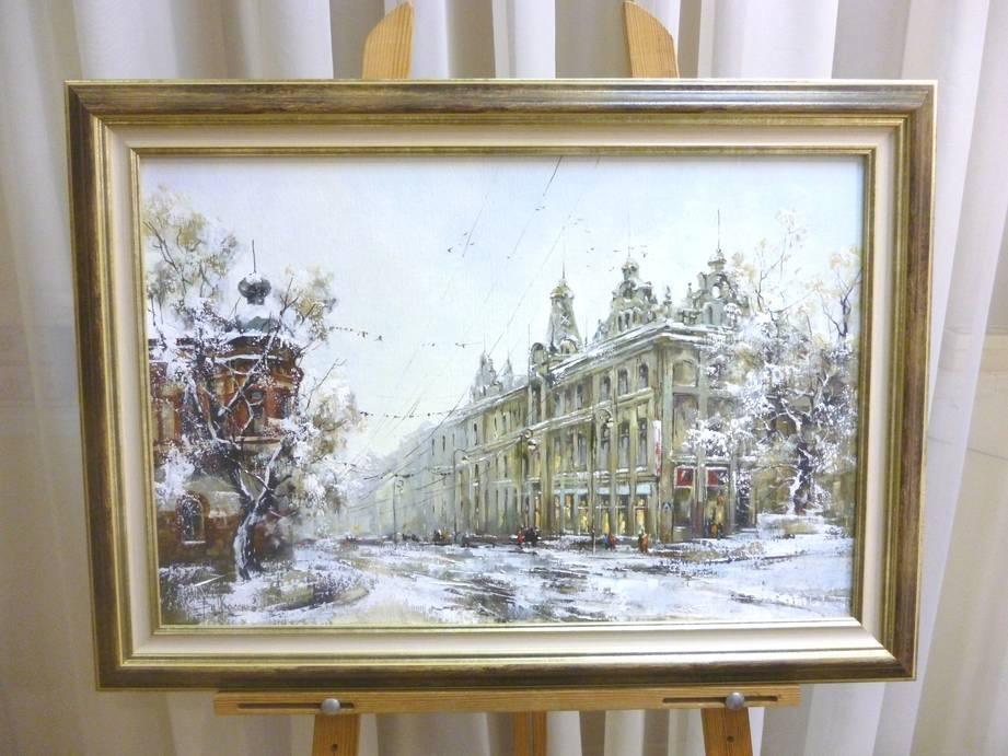 Косенко В.В. «Снежный город», х/м, 40х60