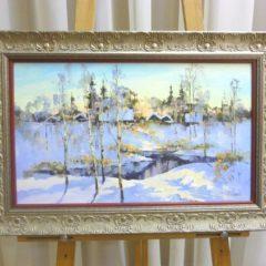 Косенко В.В. «Зимним утром», х/м, 30х50
