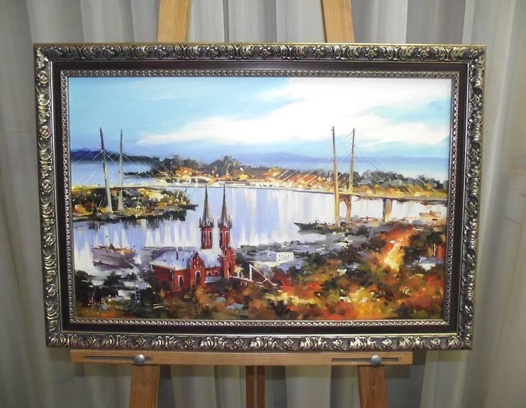 Косенко В.В. «Золотой мост» х/м, 35х55