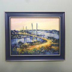 Косенко В.В. «Вечерний город», орг/м, 12х15,5