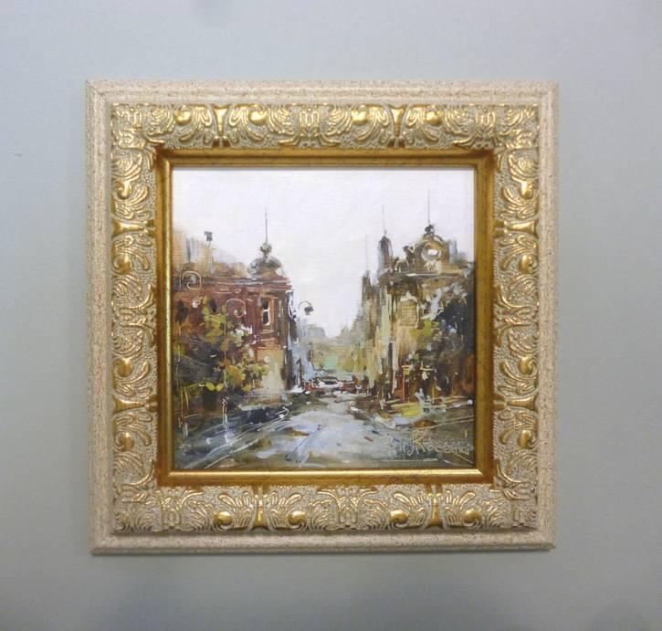 Косенко В.В. «Лето в городе», карт/м, 12х12