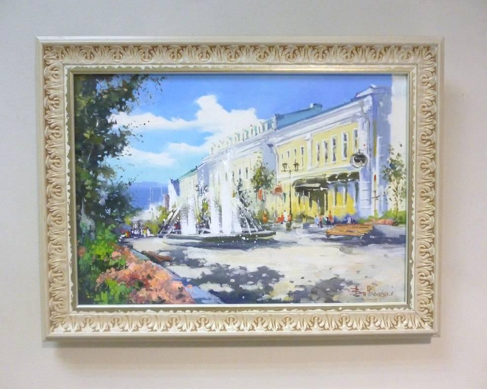 Косенко В.В. «Солнечная улица», х/м, 24х34