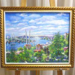 О. Волобуева «Облака над городом», х/м, 40х50