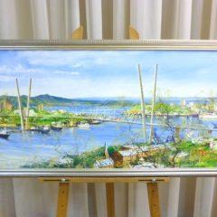 Редозубов Ю.Ю.  «Владивосток. У Золотого моста», х/м, 45х90