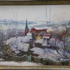 """Косенко В. В. """"Снег прошел"""", 70Х98 см"""