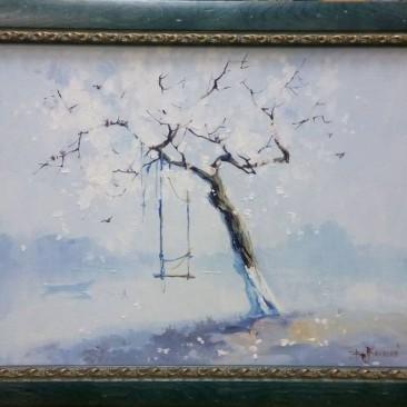 Косенко В.В. Качели х.м. 37х47см