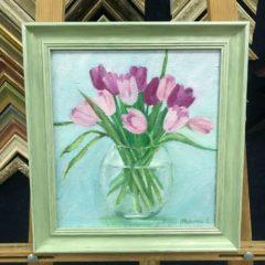 Мельник Розовые тюльпаны 33х35