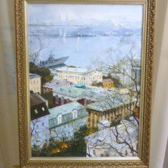Редозубов Ю.Ю. «Над городом», хм, 56х40