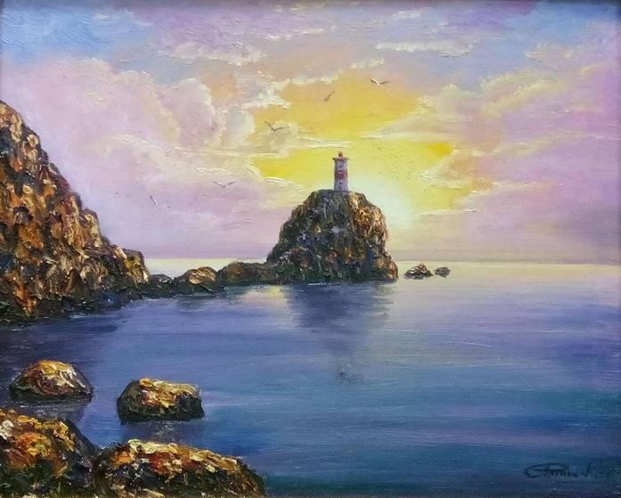 Роговиковский С. Маяк Басаргина х.м. 48х58см