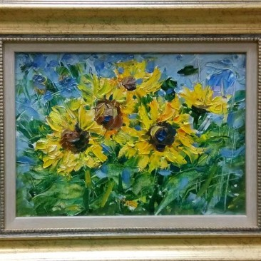 Румянцева О.В. Цветы солнца орг.м. 32х40см