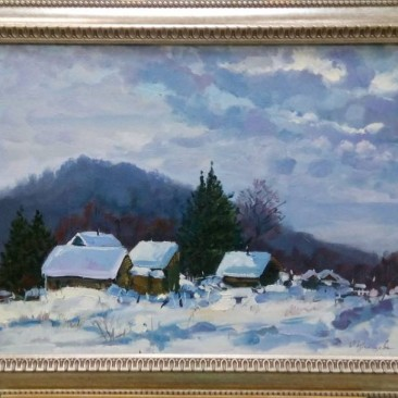 Румянцева О.В. Зима в поселке Фридман х.м. 55х70см