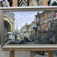 "Соболев ""Приморский дворик"" 35х50"