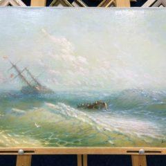 """Якубалиев """"Буря на море"""". Копия Айвазовский 40х60"""